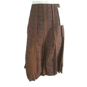 Basil & Maude Aztec Gored A-line Skirt